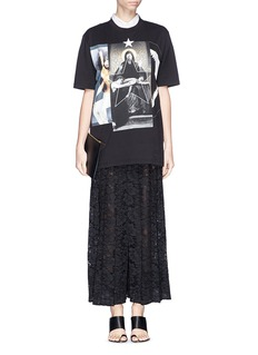 GIVENCHY Madonna shark jaw collage print T-shirt