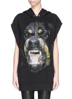 GIVENCHYRottweiler print sleeveless hoodie