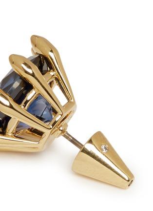 Detail View - Click To Enlarge - Eddie Borgo - Circle estate cubic zirconia earrings