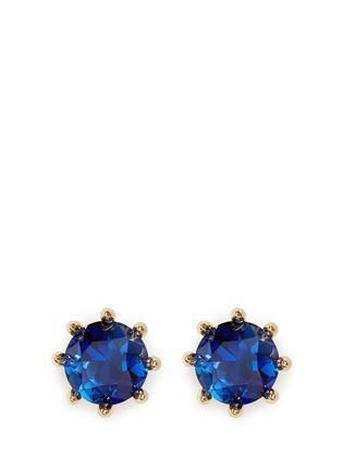 Main View - Click To Enlarge - Eddie Borgo - Circle estate cubic zirconia earrings