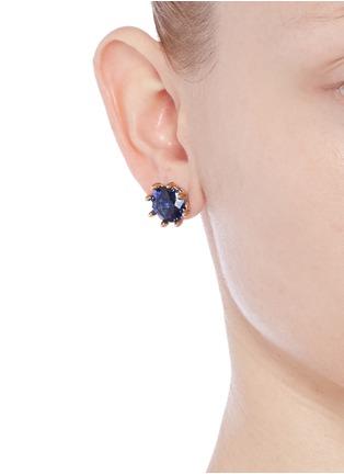 Figure View - Click To Enlarge - Eddie Borgo - Circle estate cubic zirconia earrings