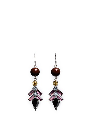 Main View - Click To Enlarge - Joomi Lim - 'Rebel Romance' pearl spike crystal drop earrings