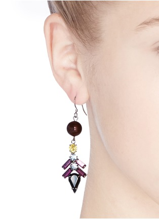 Figure View - Click To Enlarge - Joomi Lim - 'Rebel Romance' pearl spike crystal drop earrings