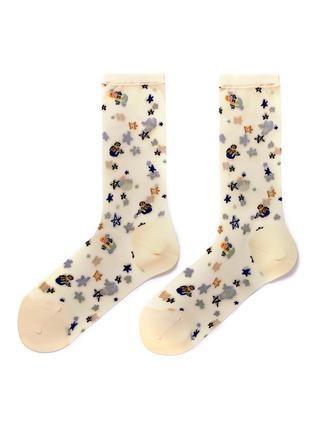 Main View - Click To Enlarge - HANSEL FROM BASEL - 'Mermaid' crew socks