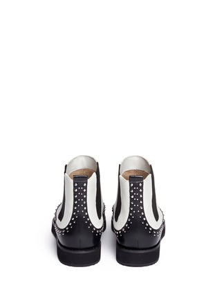 Back View - Click To Enlarge - Michael Kors - 'Sofie' rivet wingtip leather Chelsea boots