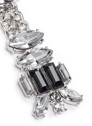Detail View - Click To Enlarge - Kenneth Jay Lane - Chain and crystal drop earrings