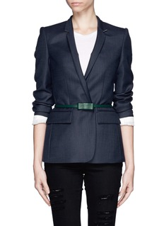 MAISON BOINETSkinny leather reversible bow belt