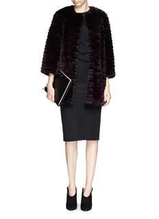 YVES SALOMONRabbit fur cropped jacket