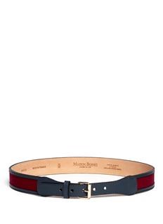MAISON BOINETFelt and leather belt
