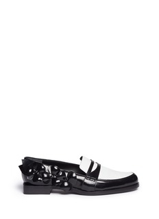MAIYETFlower appliqué colourblock leather loafers