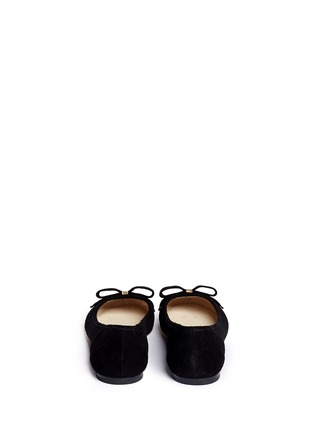 Back View - Click To Enlarge - Michael Kors - Kiera bow suede ballerinas