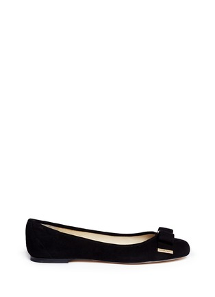 Main View - Click To Enlarge - Michael Kors - Kiera bow suede ballerinas