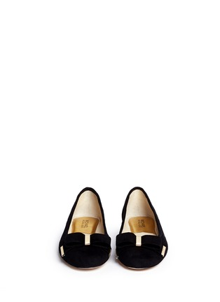 Figure View - Click To Enlarge - Michael Kors - Kiera bow suede ballerinas