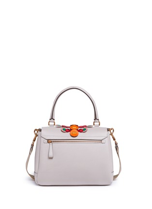 Detail View - Click To Enlarge - Anya Hindmarch - 'Bathurst Flip' small geometric strap leather satchel