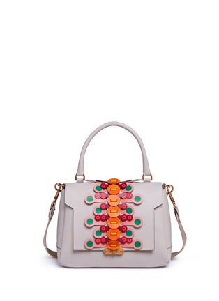Main View - Click To Enlarge - Anya Hindmarch - 'Bathurst Flip' small geometric strap leather satchel