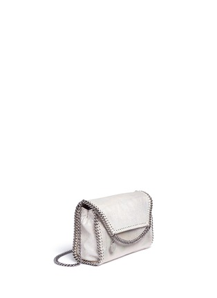 Detail View - Click To Enlarge - Stella McCartney - 'Falabella' holographic chain crossbody bag