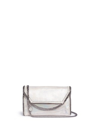 Main View - Click To Enlarge - Stella McCartney - 'Falabella' holographic chain crossbody bag