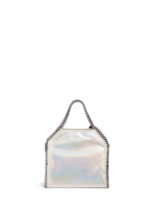 Detail View - Click To Enlarge - Stella McCartney - 'Falabella' mini holographic two-way chain tote