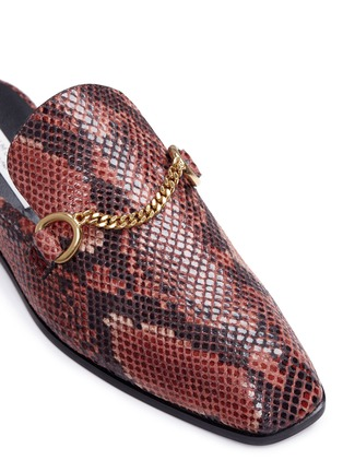 Detail View - Click To Enlarge - Stella McCartney - 'Tanka' alter python slide loafers