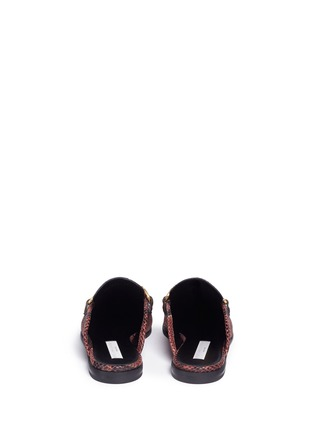 Back View - Click To Enlarge - Stella McCartney - 'Tanka' alter python slide loafers