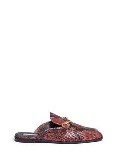 Stella McCartney'Tanka' alter python slide loafers