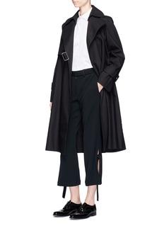 Calvin Klein Collection'Levit' convertible cotton gabardine trench coat