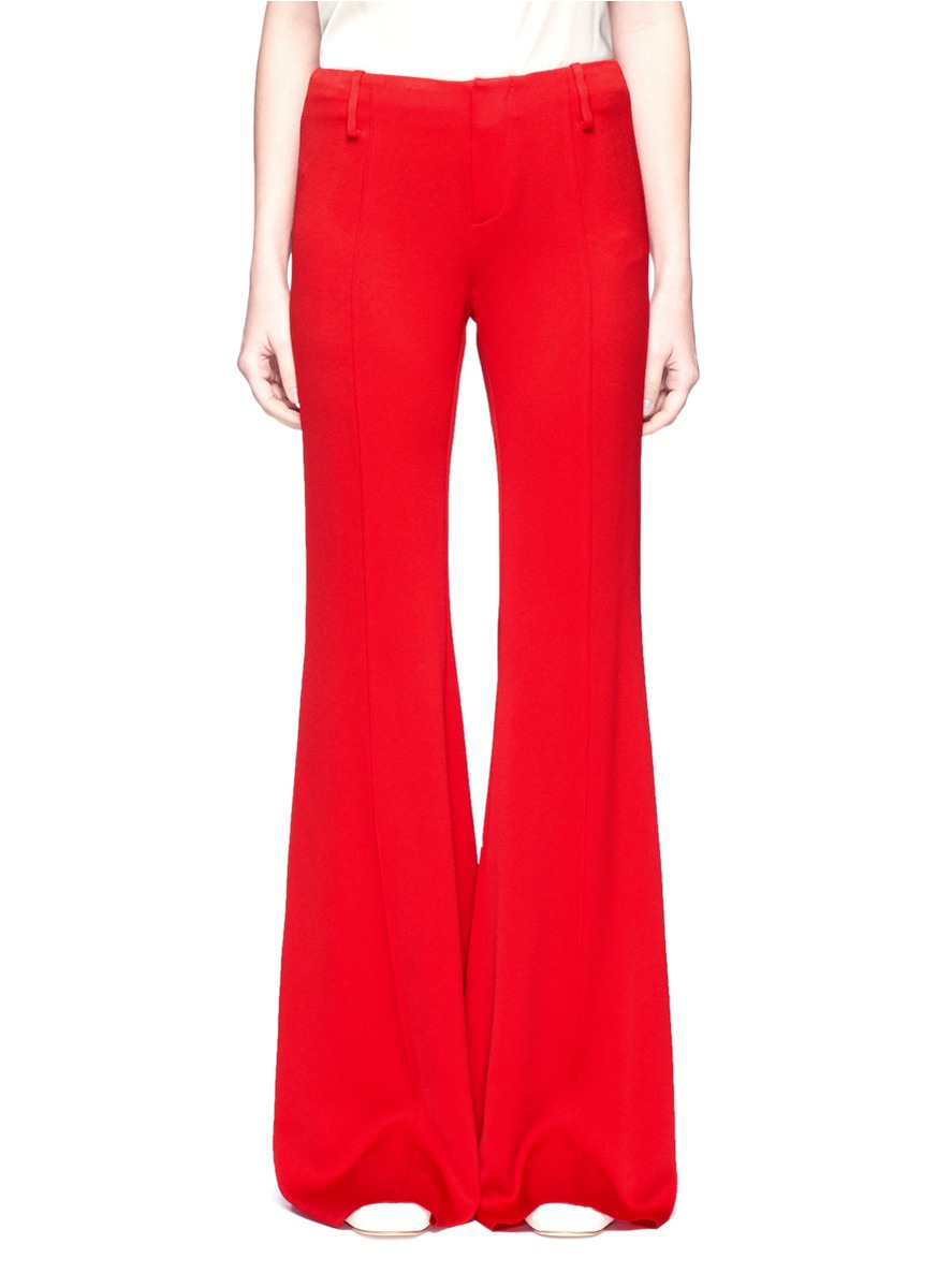 Crepe bell bottom pants by Ms MIN