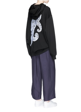 Figure View - Click To Enlarge - Acne Studios - 'Yala' paisley embroidered oversized hoodie