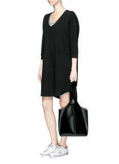 James Perse Double faced fleece jersey dress