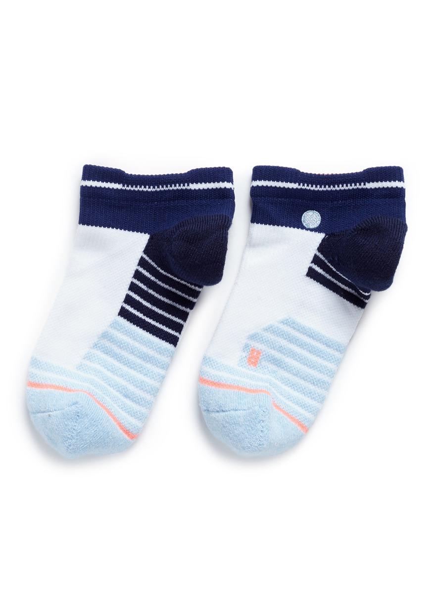stance female tempo low colourblock stripe performance socks