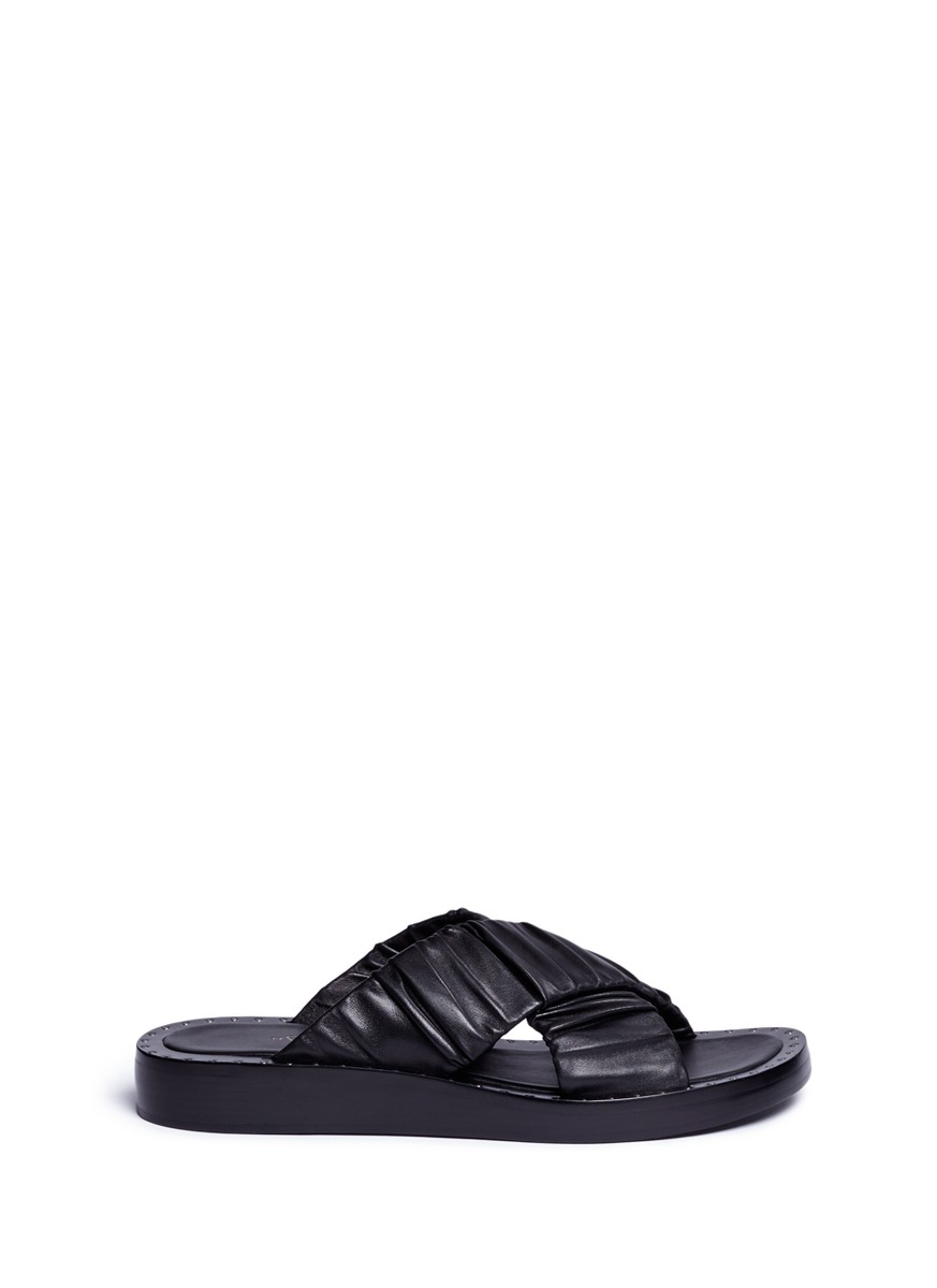 Nagano stud crisscross leather slide sandals by 3.1 Phillip Lim