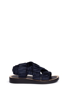 3.1 Phillip Lim 'Nagano' stud ruched satin sandals