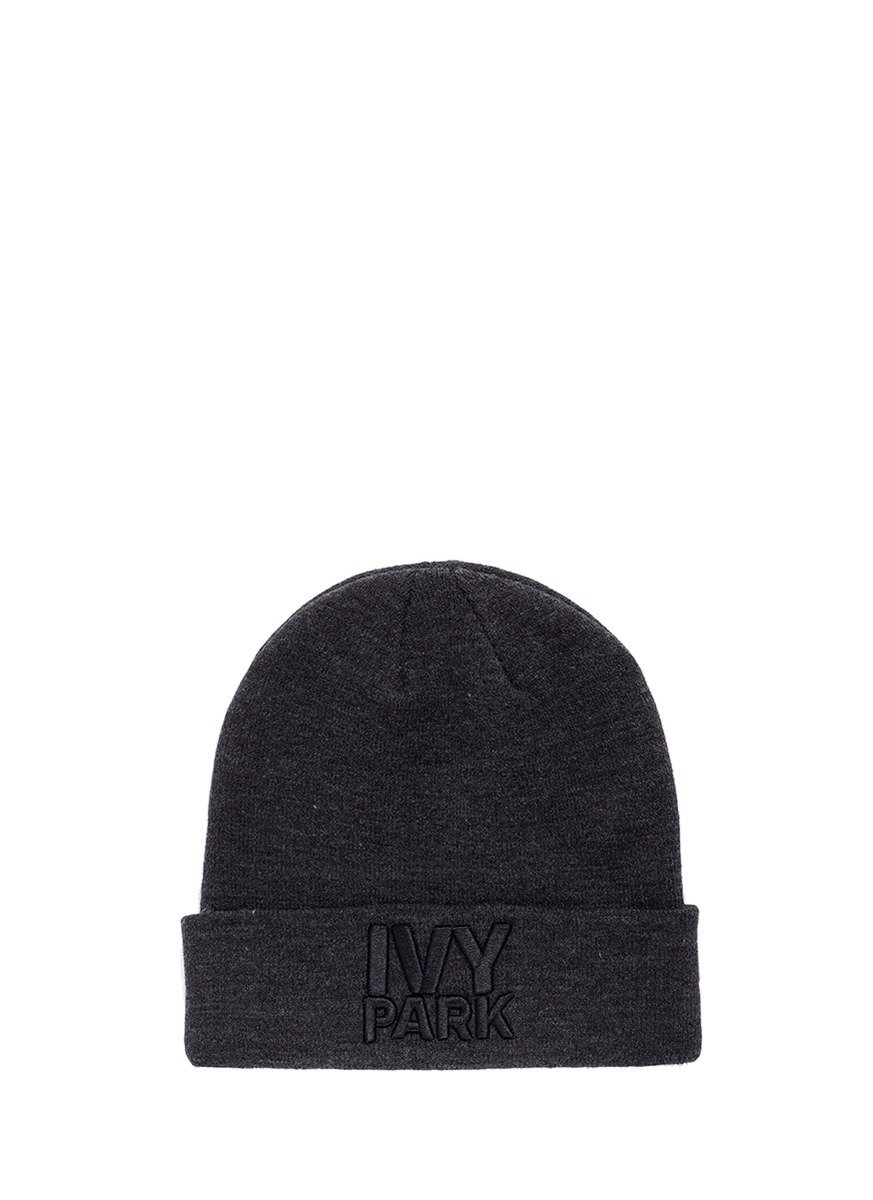 Logo embroidered thermal beanie by Ivy Park