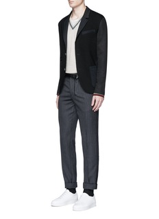 LanvinMixed jersey soft blazer