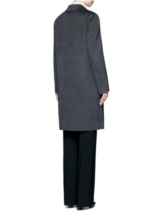 Back View - Click To Enlarge - Yves Salomon - Double-faced wool-cashmere coat