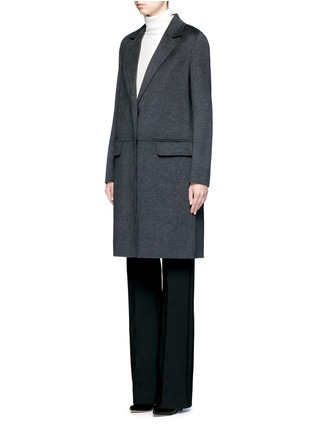 Front View - Click To Enlarge - Yves Salomon - Double-faced wool-cashmere coat