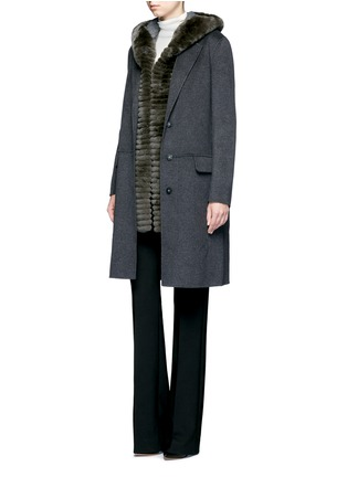 Figure View - Click To Enlarge - Yves Salomon - Double-faced wool-cashmere coat