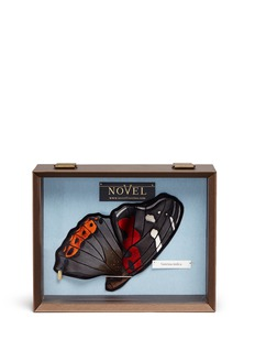 Novel 'Vanessa Indica' butterfly wing silk pocket square