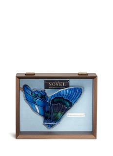 Novel 'Ancyluris Jurgensenii Atahualpa' butterfly wing silk pocket square