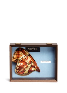 Novel Boloria Euphrosyne' butterfly wing silk pocket square