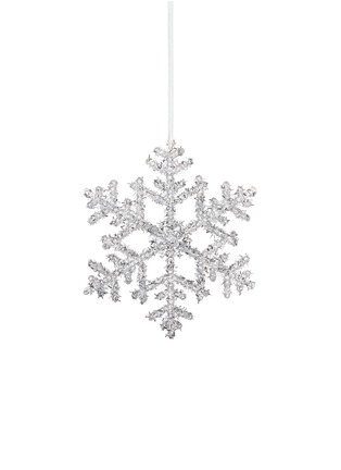 Main View - Click To Enlarge - Shishi As - Glitter snowflake Christmas ornament