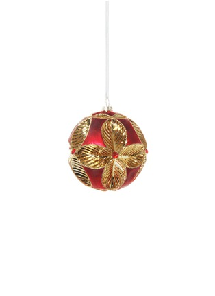Main View - Click To Enlarge - Shishi As - Metallic leaf Christmas ornament