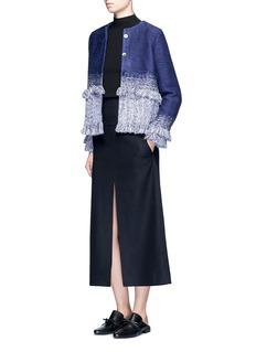 Xu ZhiBraided ombré frayed trim jacket