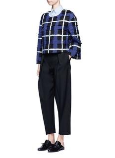 Xu ZhiThreaded tartan check pullover