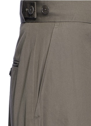 Detail View - Click To Enlarge - Helmut Lang - Belted side cotton poplin cargo pants