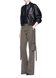 HELMUT LANGBelted side cotton poplin cargo pants