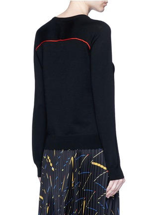 Back View - Click To Enlarge - Emilio Pucci - Monogram Merino wool sweater