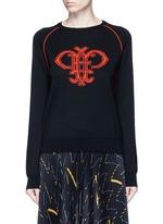 Monogram Merino wool sweater