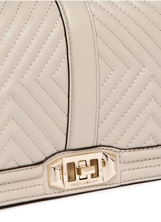 Detail View - Click To Enlarge - Rebecca Minkoff - 'Geo' quilted leather Love crossbody bag