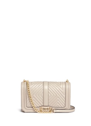Main View - Click To Enlarge - Rebecca Minkoff - 'Geo' quilted leather Love crossbody bag
